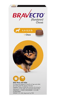 Bravecto Chew for Dogs  (4.4 - 9.9 lbs)