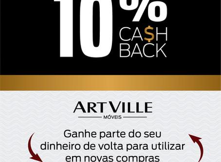 Promoção CASHBACK Art Ville Móveis