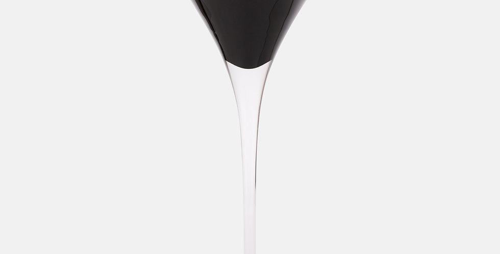 Black Martini Glass