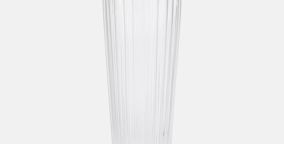 Clear Ribbed Vase