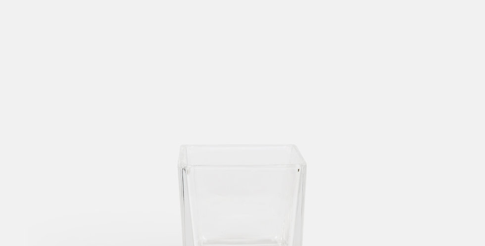 Tapered Clear Cube Vase