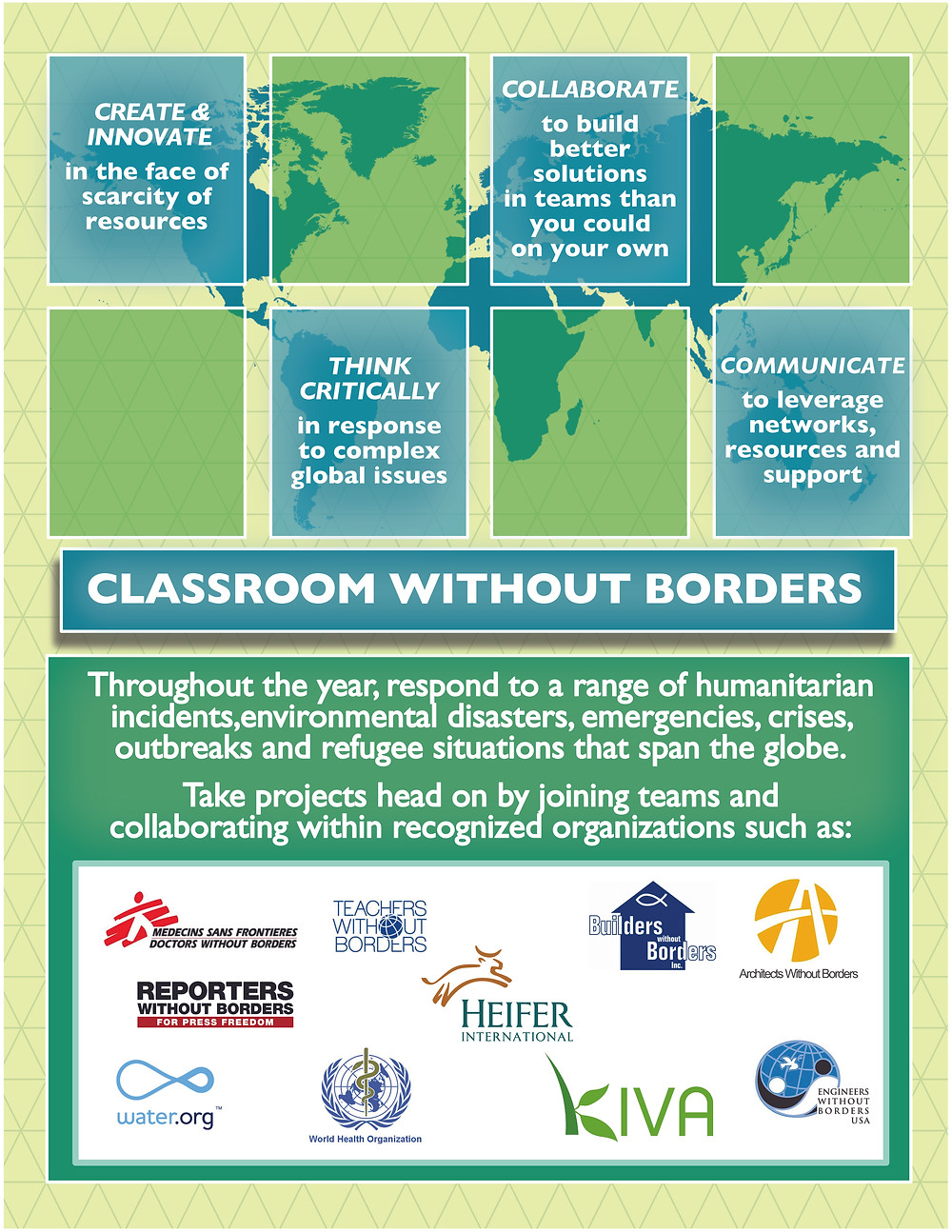 Classroom Without Borders, Project-Based Learning, PBL