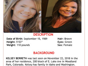 The Woodland Park Police Department needs your help locating Kelsey Berreth