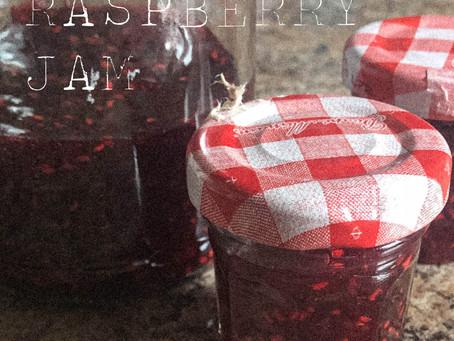 quick raspberry jam.