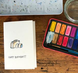 camera birthday card.