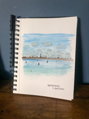 watercolour sketch of Portsmouth.