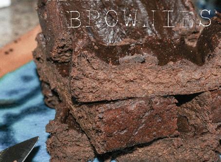 healthy sweet potato brownies.