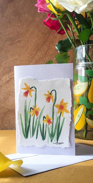 daffodil spring card.