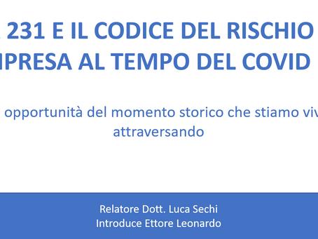 Webinar gratuito: La 231 e il Codice del Rischio di Impresa al tempo del COVID-19