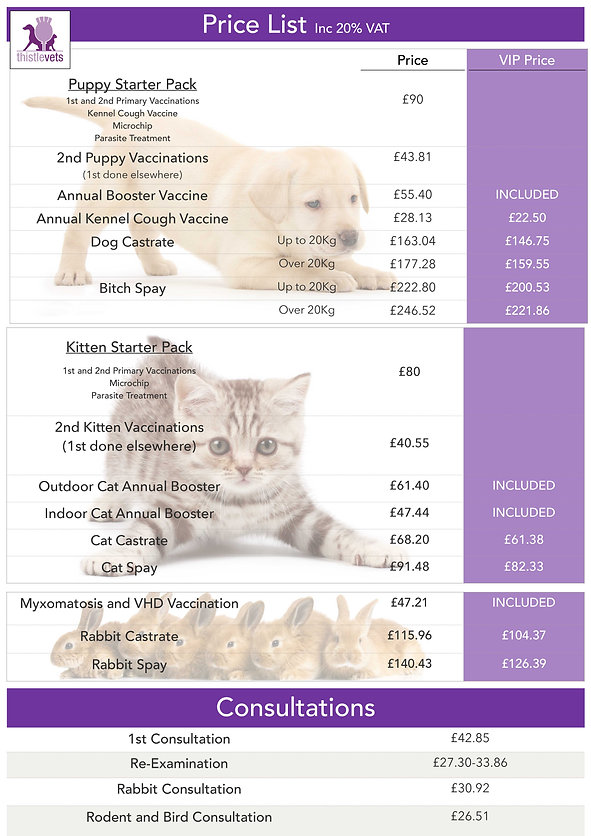 fees services Price List