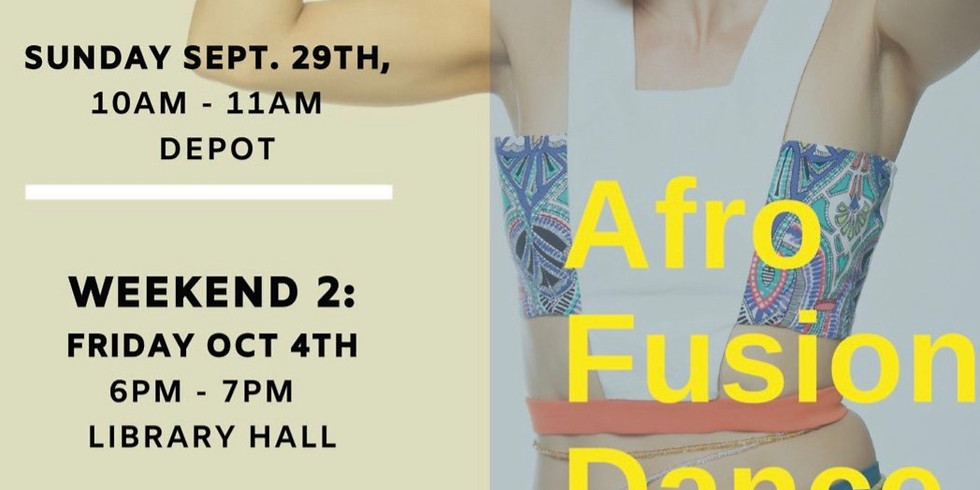 Afro Fusion Dance - Steamboat Springs, CO workshops (weekend 2)