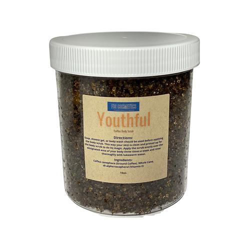 Youthful -Coffee Body Scrub 16 oz.