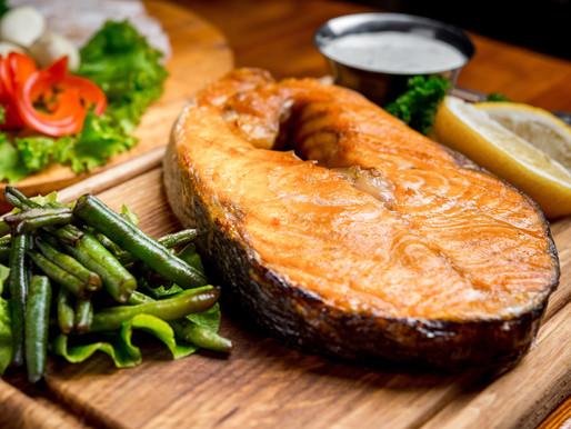 Charred Sesame Salmon Steaks