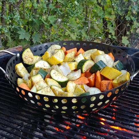 Grilled Vegetables with Mild Chili Pepper Spice Blend
