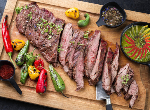 Grilled London Broil with Teriyaki Chipotle Marinade