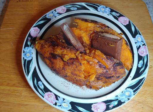 Surprise Cinnamon Chocolate Yam Dessert