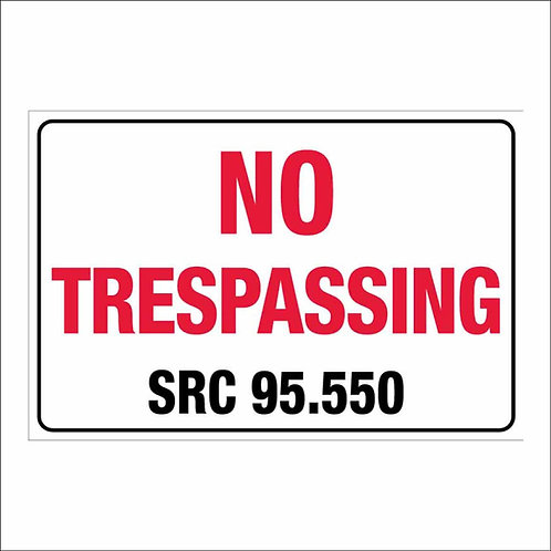 "12""x18"" No Trespassing Salem Poly Metal Signs"