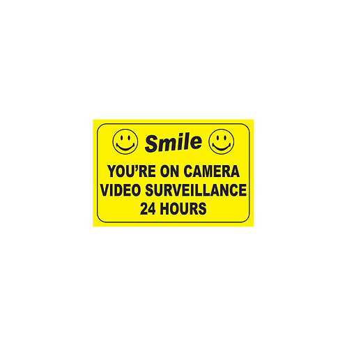 """12""""x18"""" Smile You're on Camera Poly Metal Signs"""