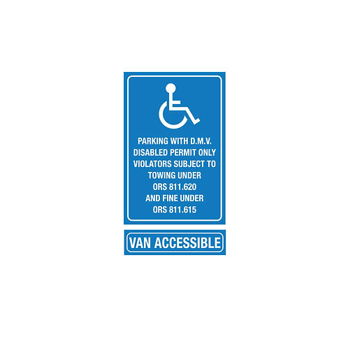 Disabled Parking & Van Accessible Poly Metal Signs