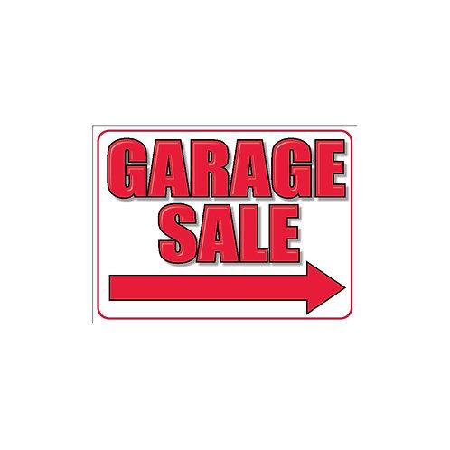 """18""""x24"""" Garage Sale Directionals on Corex"""