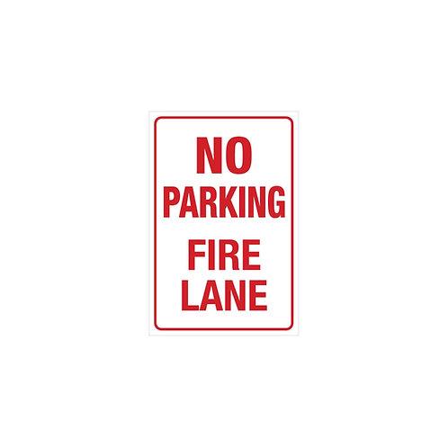 "18""x12"" No Parking - Fire Lane Poly Metal Signs"