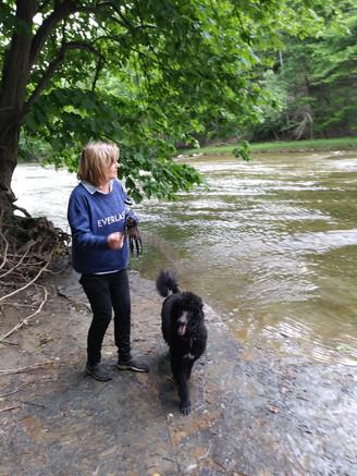 Fran and Taz at the park.