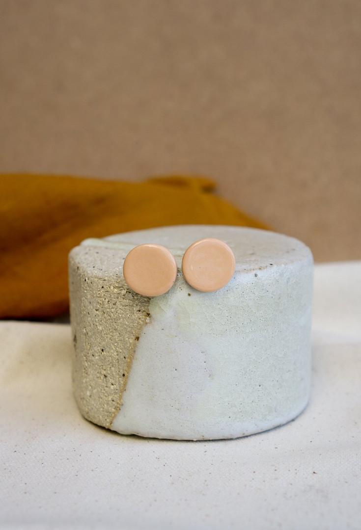 Nude Ceramic Stud - Large