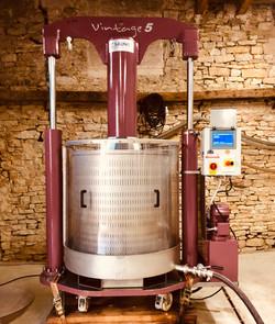 Pressoir vertical pour les Pinots