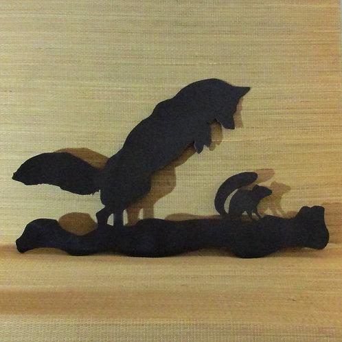 Dinner! - Fox & Chipmunk (Wall Hanging)