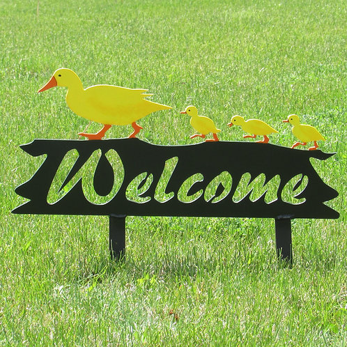 Welcome Sign - Duck