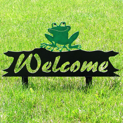 Welcome Sign - Frog