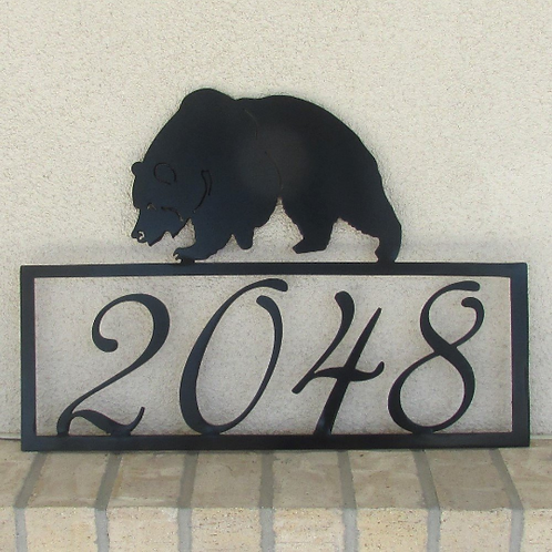 House Number Sign - Bear