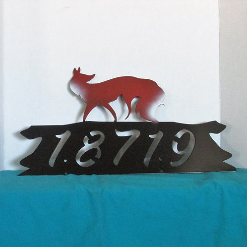 House Number Sign - Fox