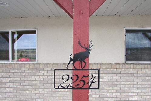 House Number Sign - Elk