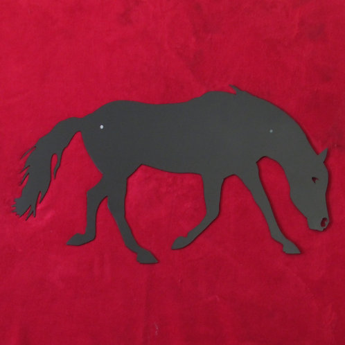 Eating on the Run - Horse Silhouette