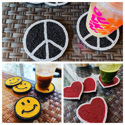 Handcrafted Beaded Coasters