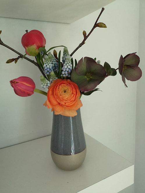 Peony & Ranunculus Bud Vase
