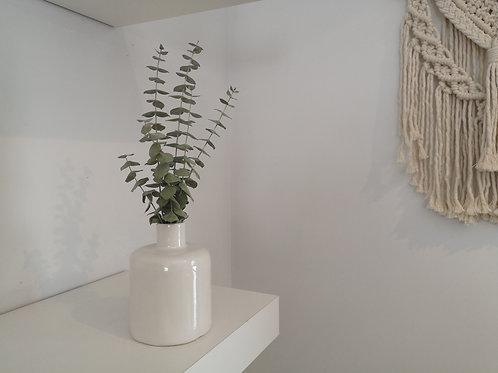 Janson Pottery Bud Vase with Eucalyptus