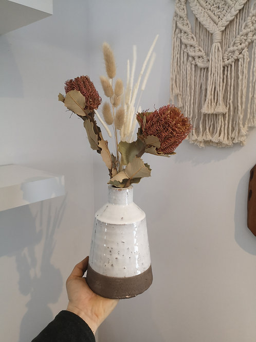 Dried Flower Protea Bud Vase