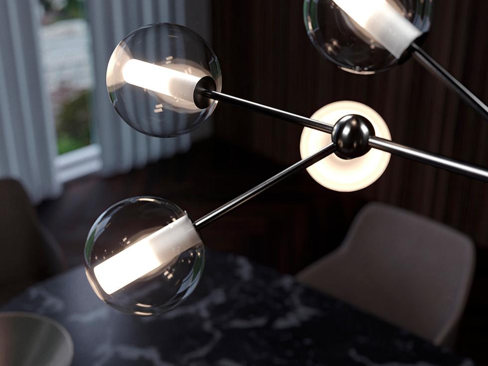 Mirea.1574.10L.Cangini.e.Tucci.galvanized.black.satin.nickel.brass.chandelier.blown.glass.