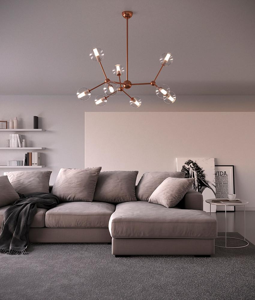 Mirea.1574.9L.Cangini.e.Tucci.galvanized.bronze.brass.chandelier.blown.glass.design.living