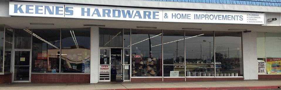 Keene's Hardware storefront