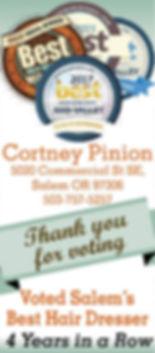 Cortney Pinion Best Hair Dresser Salem Oregon Best of the Mid Valley