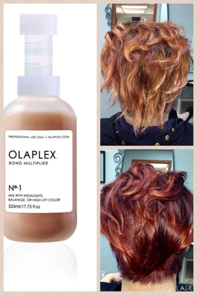 Olaplex Before and After in a Color Service