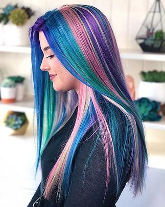 Woman with Rainbow Hair Salem Oregon