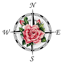 Compass Rose Estate Sales logo displaying a rose over a compass