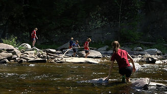 Children playing on Westfield River 2015 Bill Parker.jpg