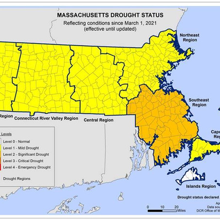 Drought Conditions Declared in Most of MA