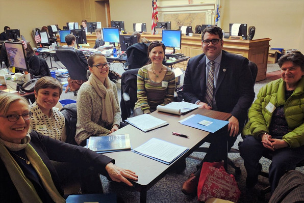 Representative Connolly meets with the Mystic River Watershed Association