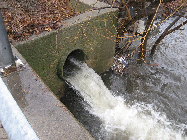 Sewer Overflow into Mystic River Watersh